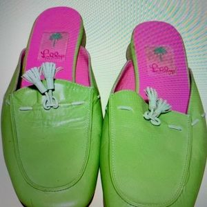 Lilly Pulitzer leather loafers
